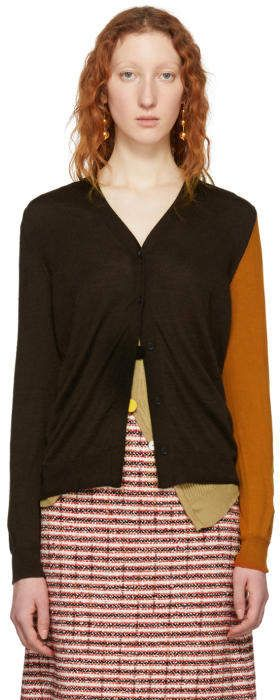 7c4a2dbdf80 Marni Brown and Orange Cashmere Cardigan | Products in 2019 ...