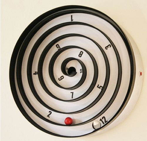 Furniture, Cute Unique Kids Room Wal Clock Awesome Wall Clokcs Wonderful  Design Creative Designer Amazing And Interesting Spiral White Wall Paint  Color ...