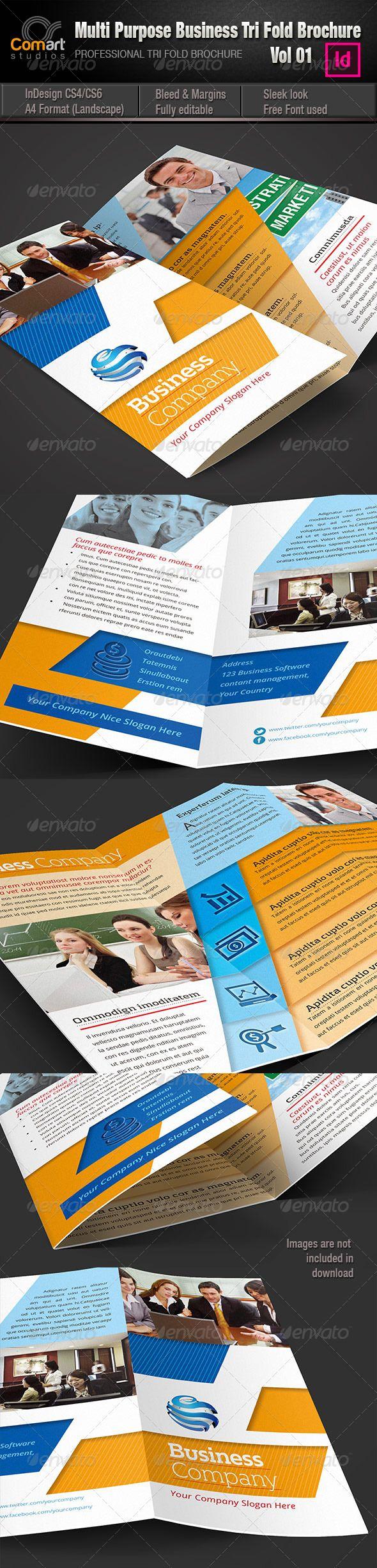 cs multipurpose tri fold brochure vol 01 pinterest tri fold