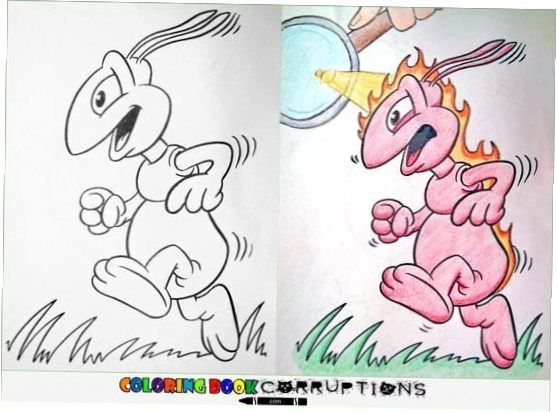 Artists Take Kids Coloring Books And Turn Them Into Terrifyingly Hilarious