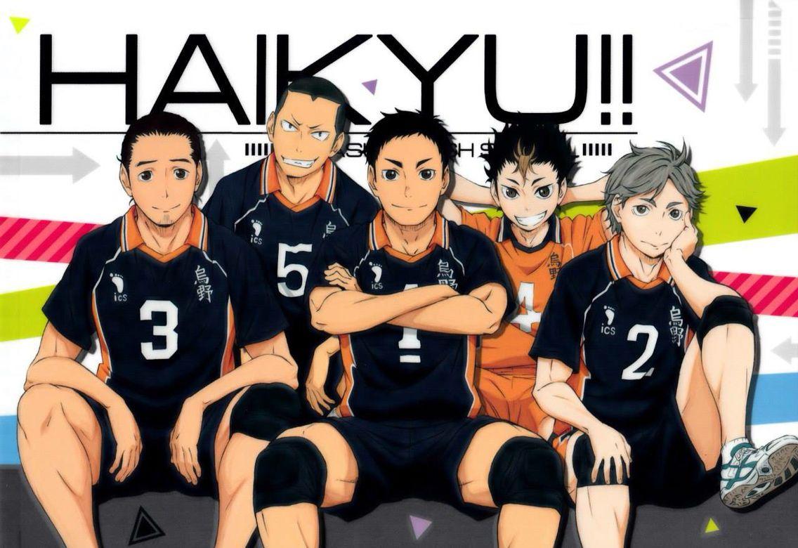 3rd And 2nd Years From Karasuno Volleyball Club Haikyuu Wallpaper Haikyuu Haikyuu Anime