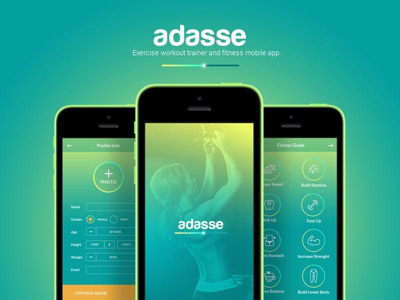 Adasse Mobile Web App Design App Design Gym App Web App Design