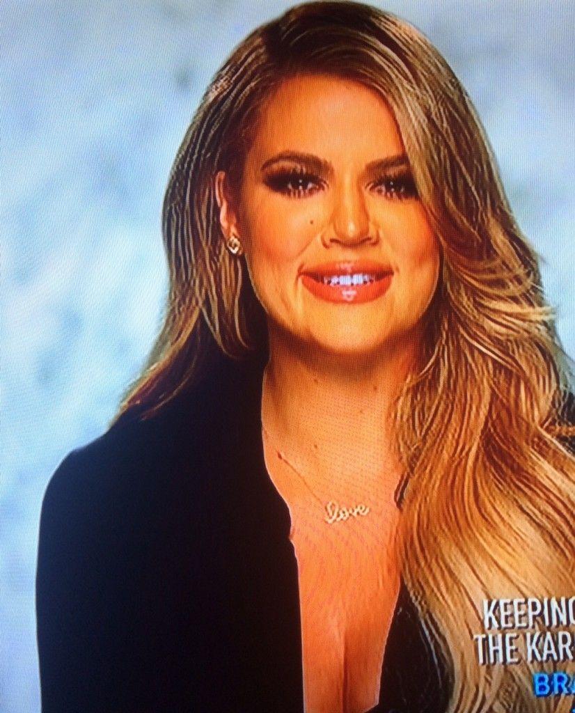 f1b15fa881898 Khloe Kardashian's Love Necklace | Kardashian Fashion | Khloe ...