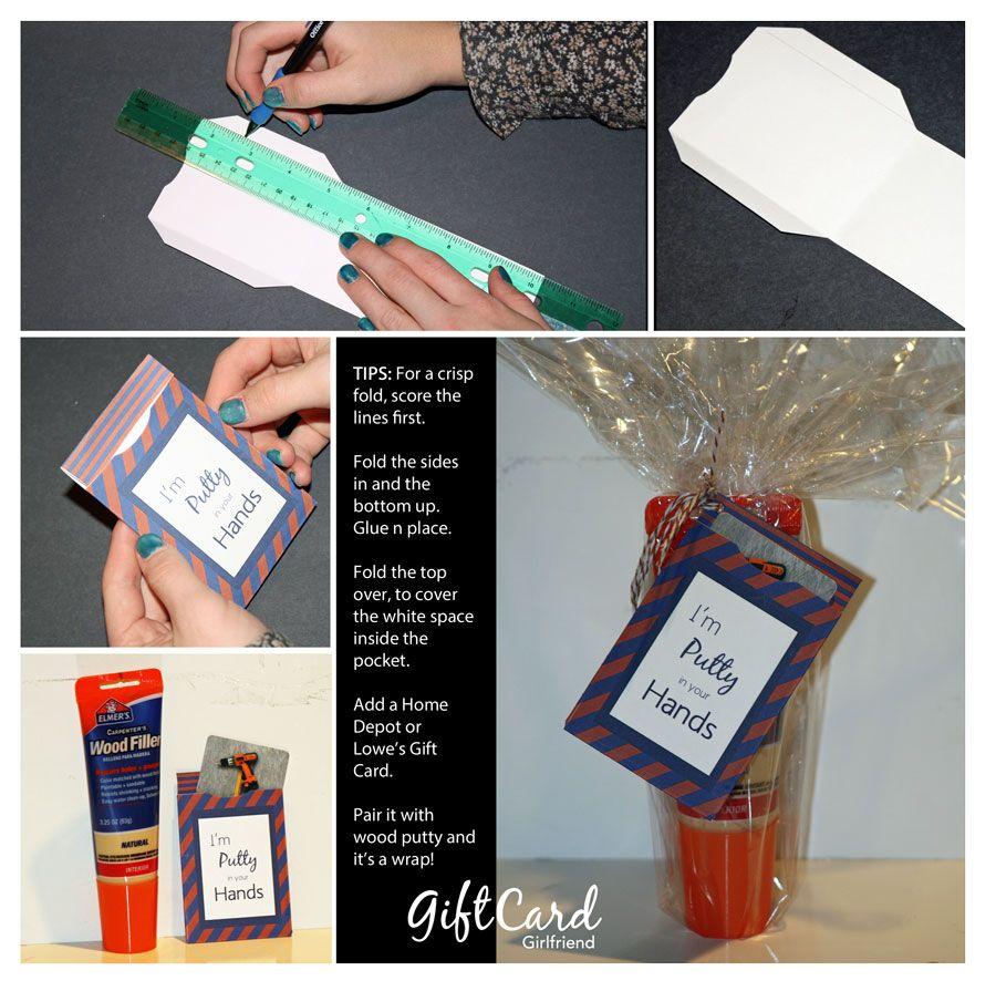 Gift card girlfriend blog gift card presentation