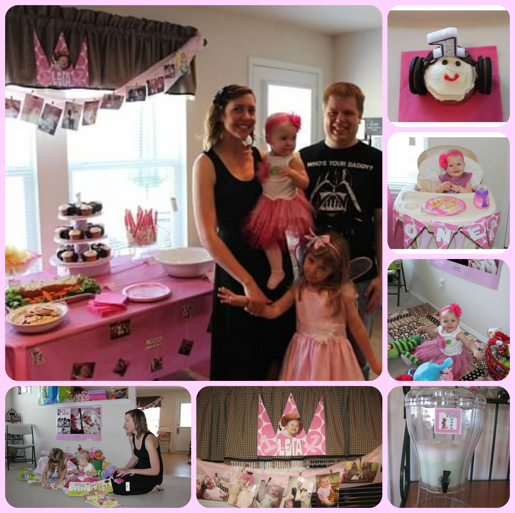 Star Wars Princess Leia Themed First Birthday Party