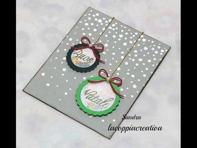 Tutorial Biglietti Di Natale.Christmas Shaker Card Tutorial Biglietto Auguri Natale Fai