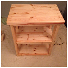 How To Diy A Rustic Microwave Stand General Purpose