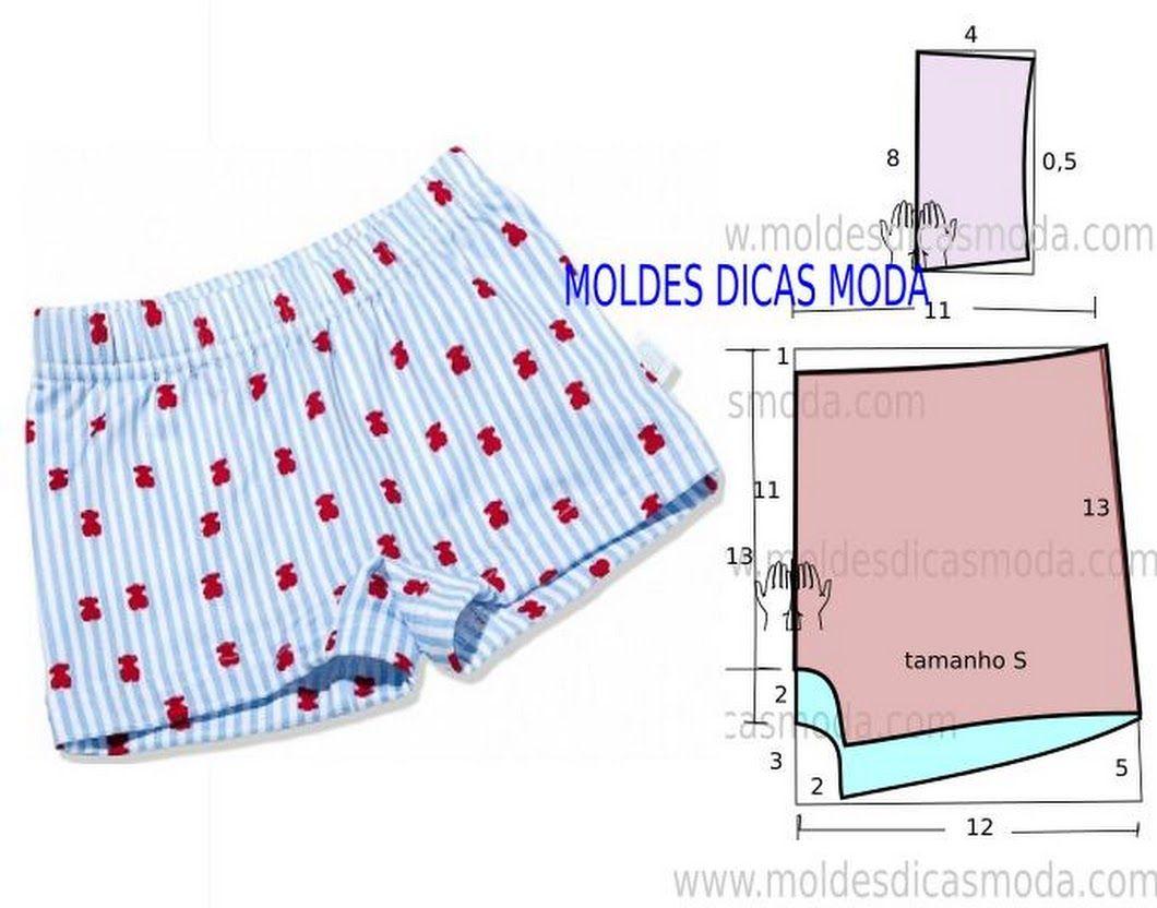 BOXER FEMININO -1 - Moldes Moda por Medida | Patrones | Pinterest ...
