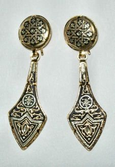 Damascene Damasquino Jewelry from Spain Damasquinado de Toledo