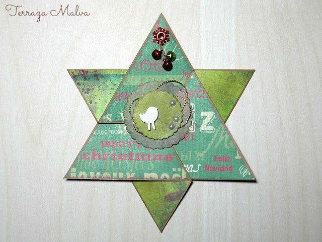 TARJETA ESTRELLA NAVIDEÑA / CHRISTMAS'S STAR CARD | Terraza Malva