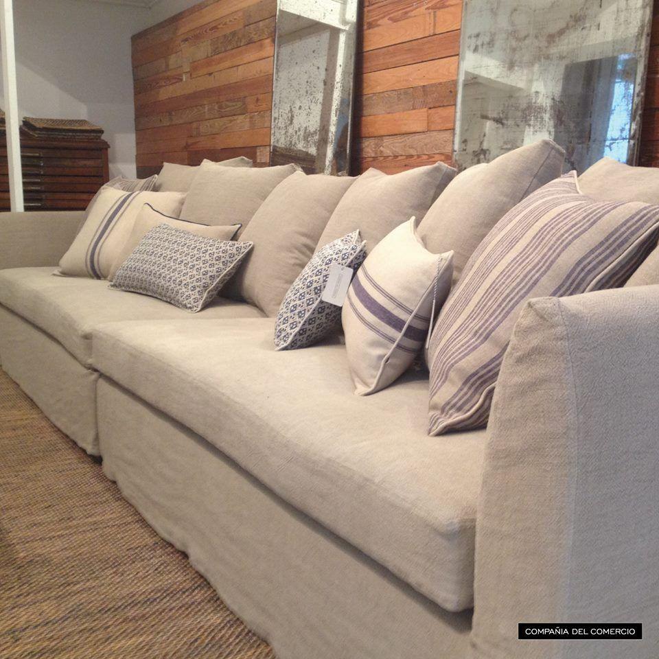 Sillones con funda de lino iaia deco pinterest sofa - Sillones con fundas ...