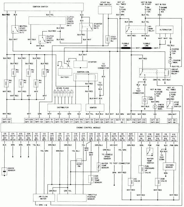 17 1993 Toyota Pickup Electrical Wiring Diagram In 2020 Electrical Wiring Diagram Motorcycle Wiring Electrical Diagram
