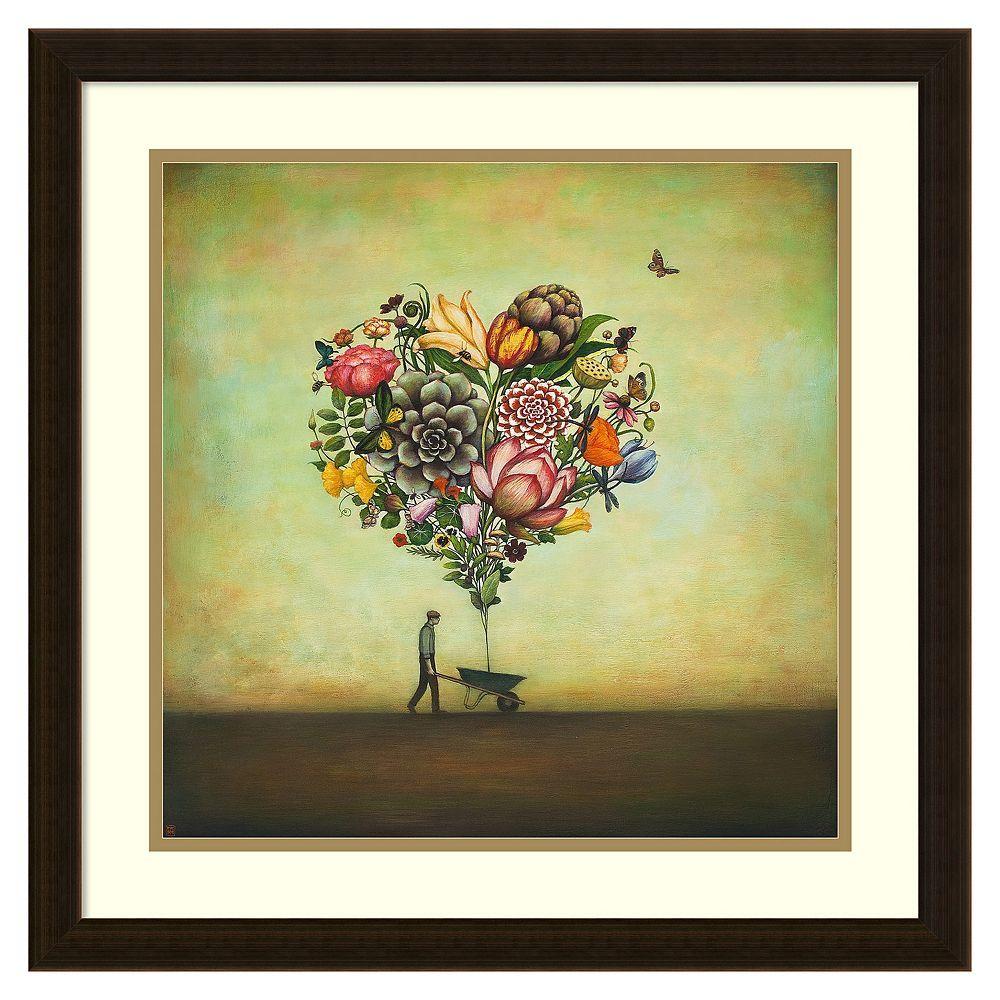 Big Heart Botany\'\' Framed Wall Art, Brown | Botany and Framed wall art