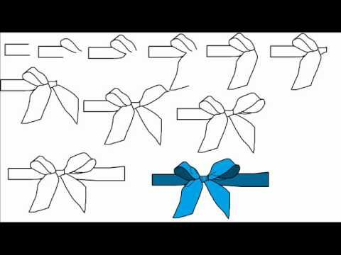 how to draw a ribbon bow step by step drawing tutorial youtube