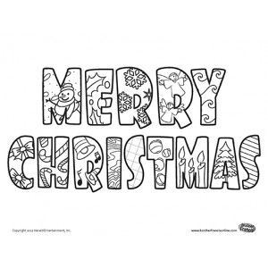 merry christmas coloring pages bing images - Merry Christmas Coloring