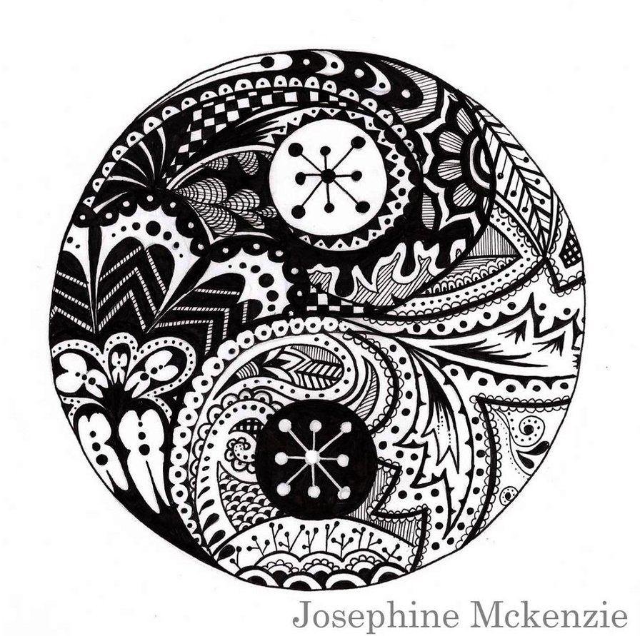 American Hippie Art Yin Yang Coloring Page Yin Yang
