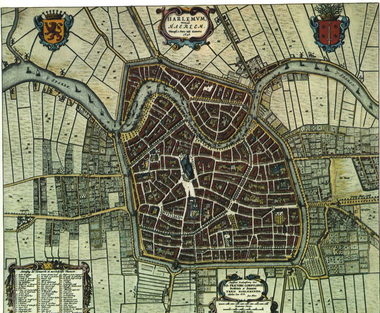 Map of Haarlem Netherlands in 1652 Mapas Maps Pinterest