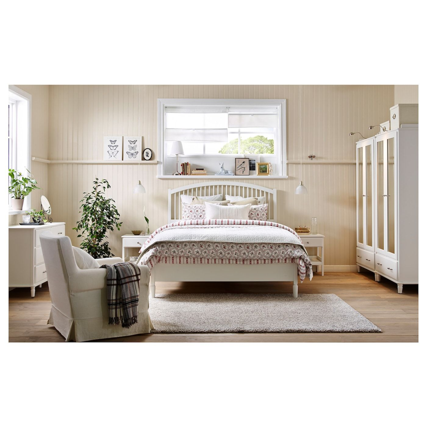 Tyssedal Cadre De Lit Blanc 160x200 Cm Ikea In 2020 Cheap Furniture Stores Bedroom Sets Bedroom Design