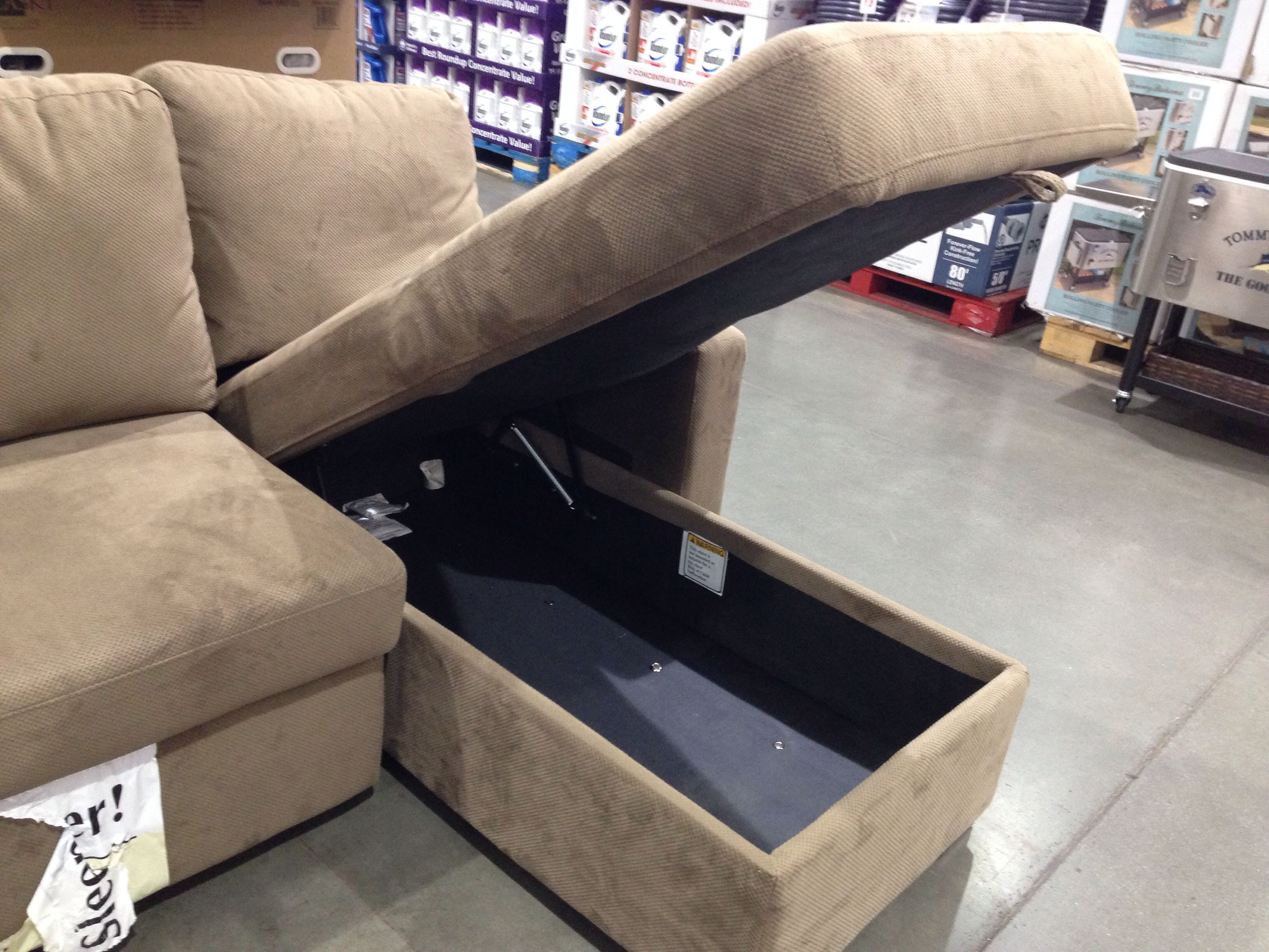 Costco Couch Opens For Storage Sectional Sofa Costco Sectional