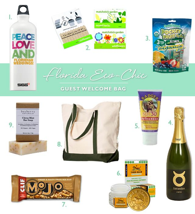 Gift Ideas For Wedding Helpers: Wedding Welcome Bag: Eco-Chic