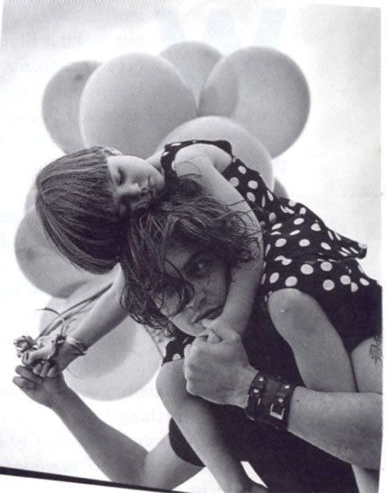 Bruce Weber photo session showing Johnny with his niece Megan, 1992 - johnny-depp Photo