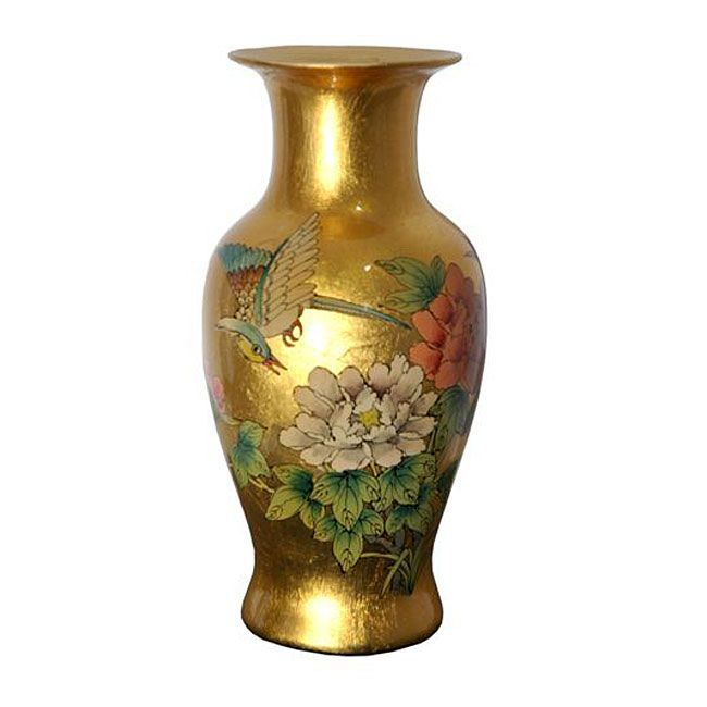 Gold Fishtail Vase China Overstock Shopping Great Deals On