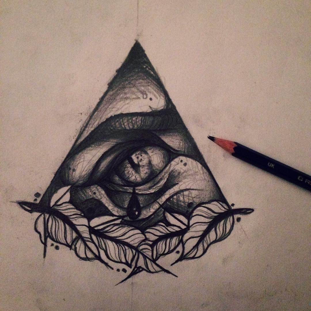 """""""First sketch for an all seeing eye hand piece"""