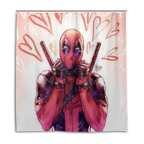 Marvel Deadpool Shower Curtain Marvel Deadpool Shower Curtain