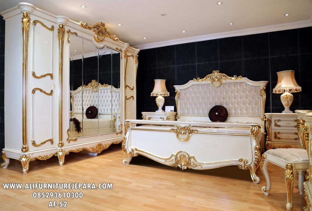 Set Kamar Ukir Duco Mewah Af 52 King Bedroom Furniture Bed Furniture Design Luxurious Bedrooms