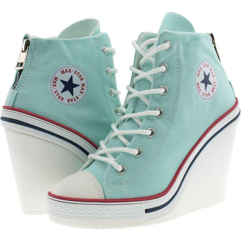 zapatos tenis converse tacon