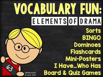 Vocabulary Fun: Elements of Drama | | 4th Grade | | Elements
