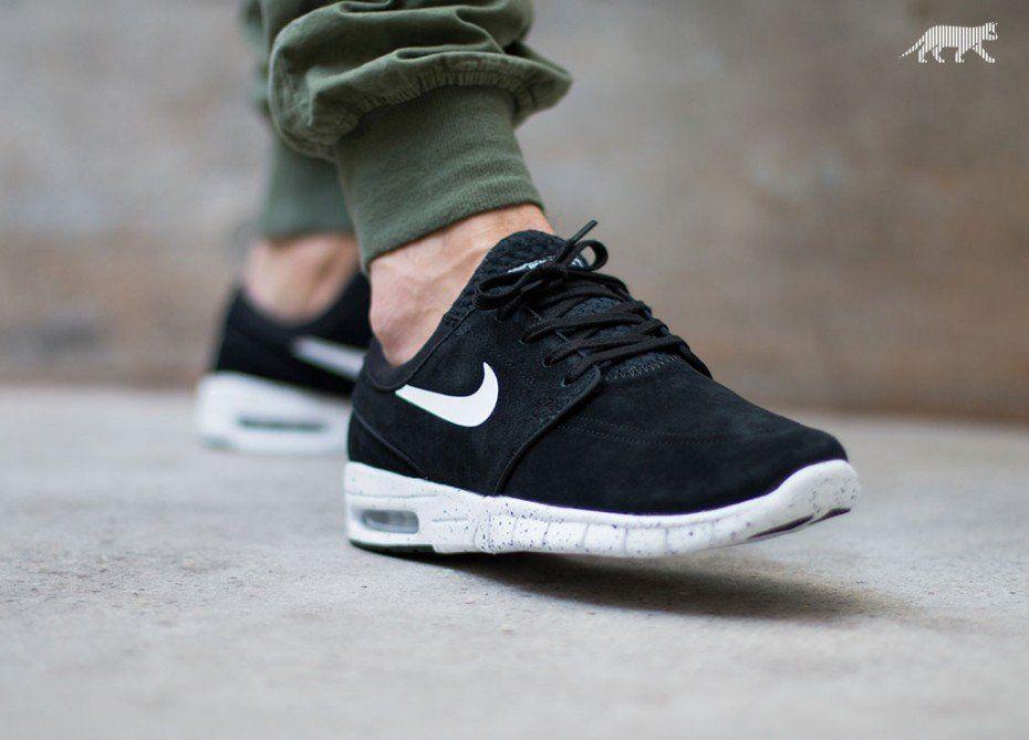 Nike SB STEFAN JANOSKI MAX L (Black / White)   Sneaker herren ...