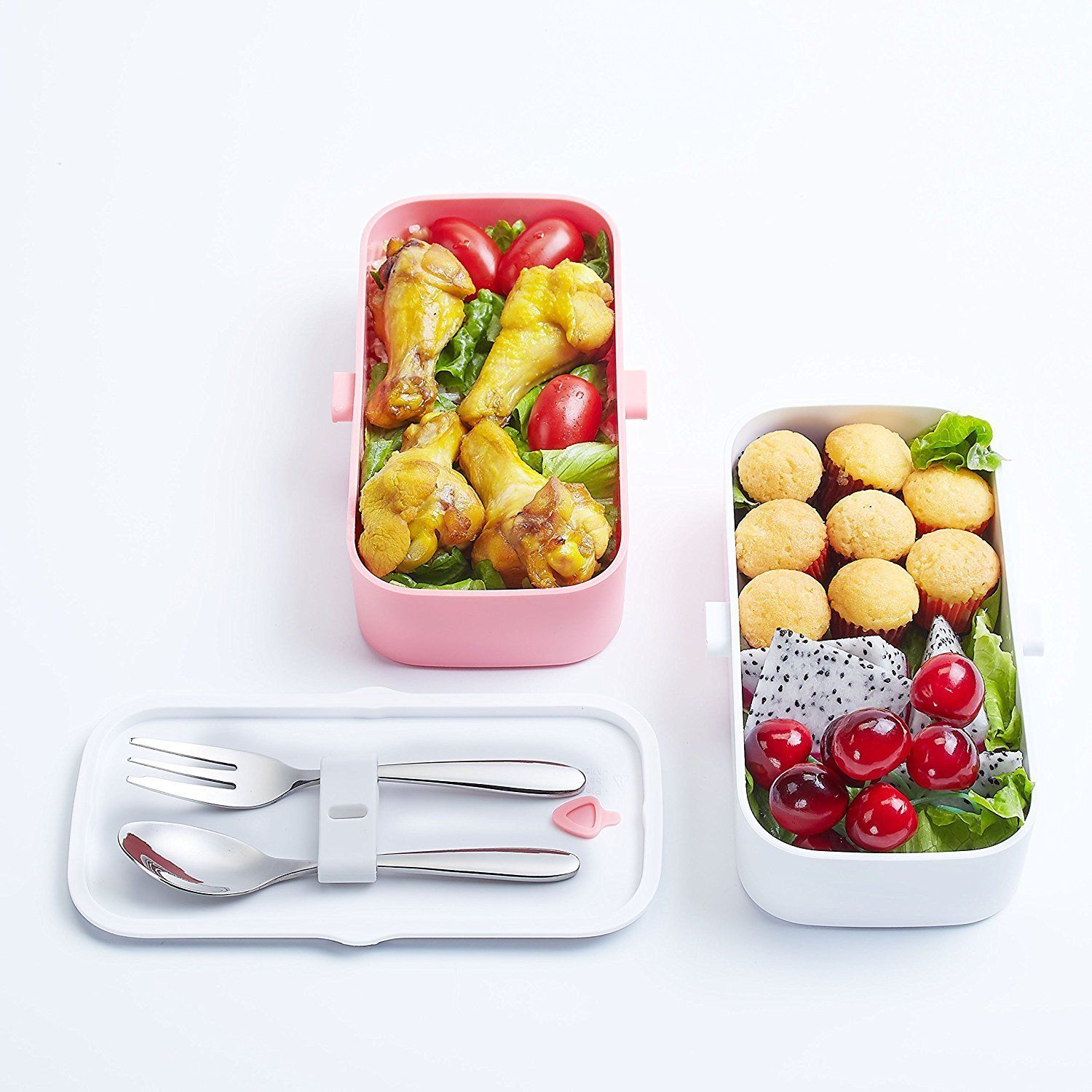 AmazonSmile: ProAid Leakproof Lunch Bento Box with Silverware 2 ...