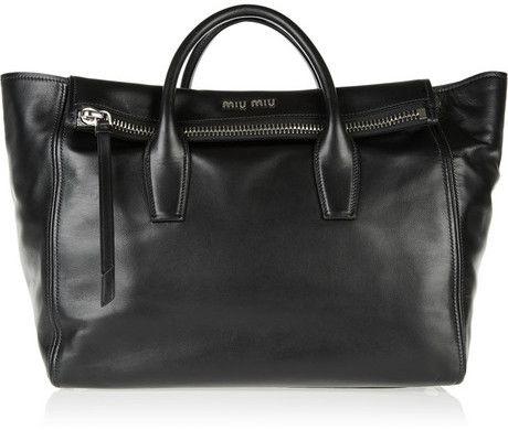 Miu Miu Leather trapeze bag on shopstyle.com  77c340d81