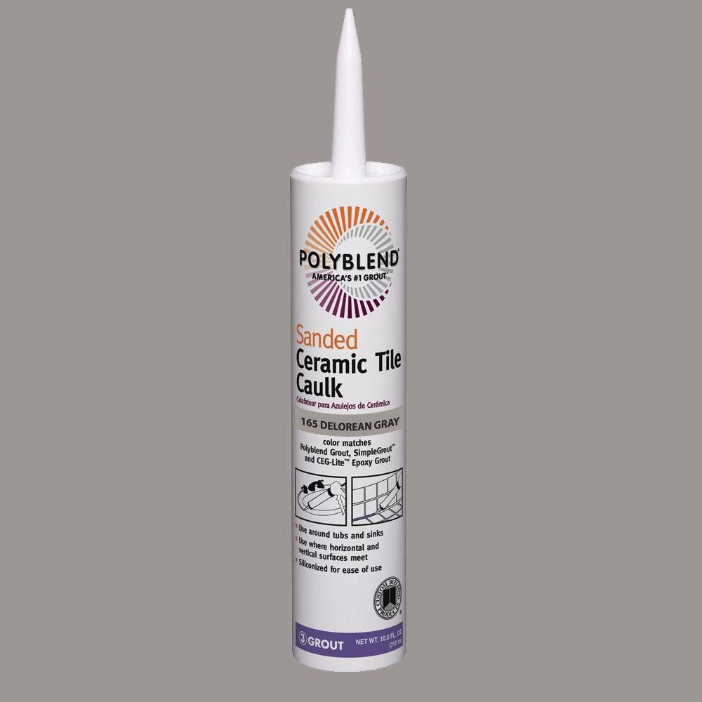 Custom Building Products Polyblend 165 Delorean Gray 10 5 Oz Sanded Ceramic Tile Caulk Pc16510s In 2020 Ceramic Tiles Caulk Ceramic Floor Tiles