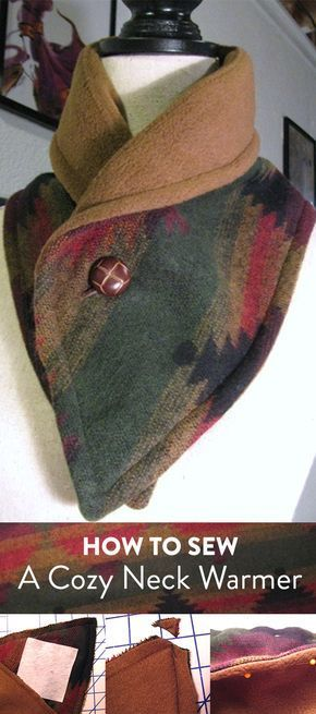 Beat The Winter Chill With A Cozy Diy Neck Warmer Sewing
