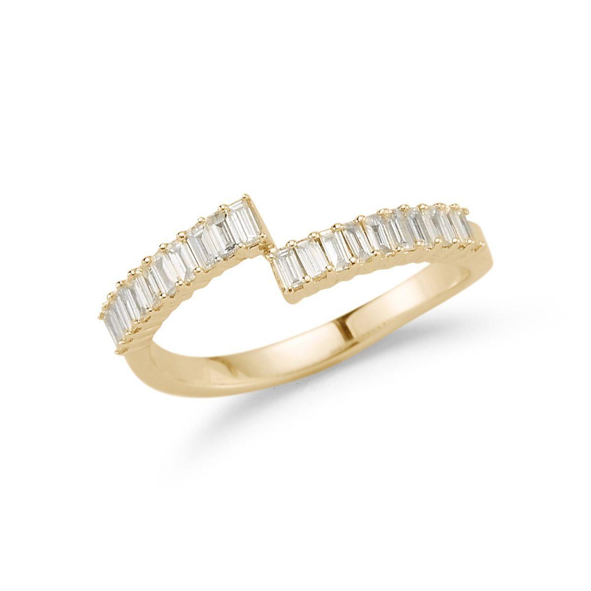 c9f7b7de307ed Sadie Pearl Split Baguette Ring in 2019   wish list.   Baguette ring ...
