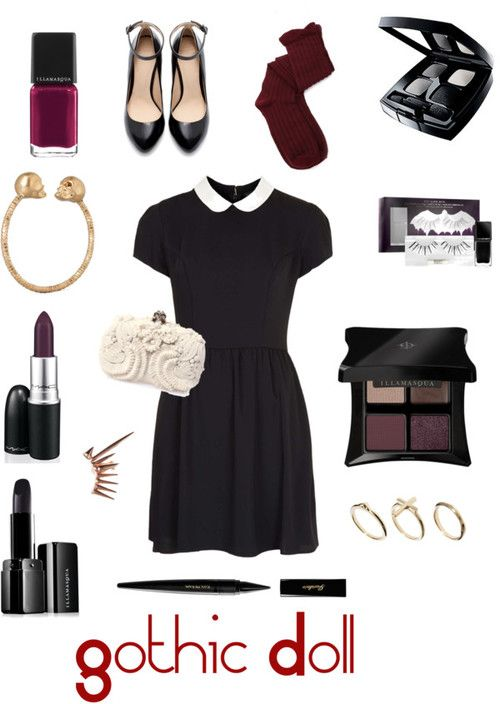 Gothic Doll Costume Idea - 3 Easy DIY Halloween Costume Ideas From Yours Truly! - StorybookApothecary.com. This could also be a Wednesday Addams costume.