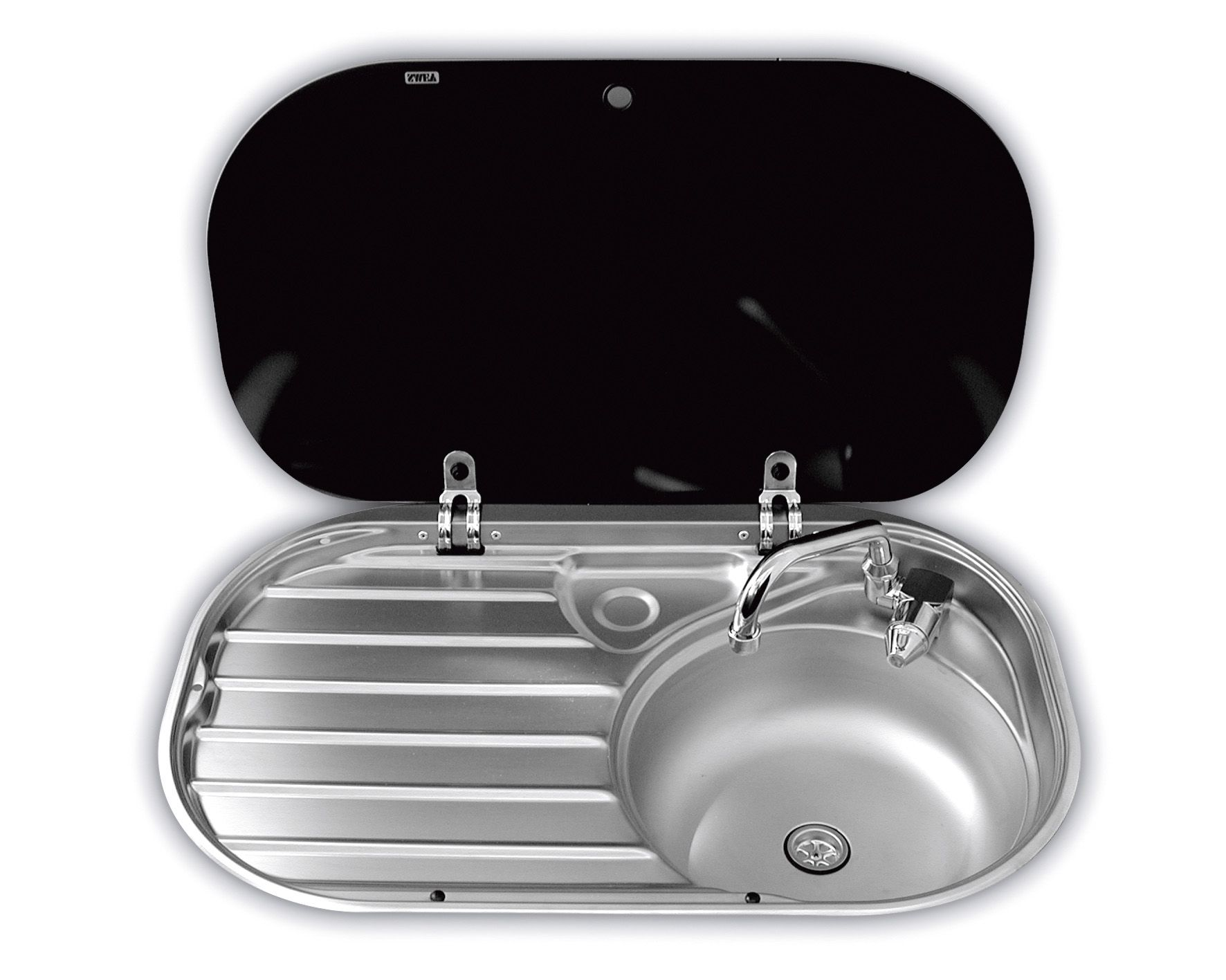 Smev Sink & Drainer with Glass Lid (8306) | Airstream Inspiration ...