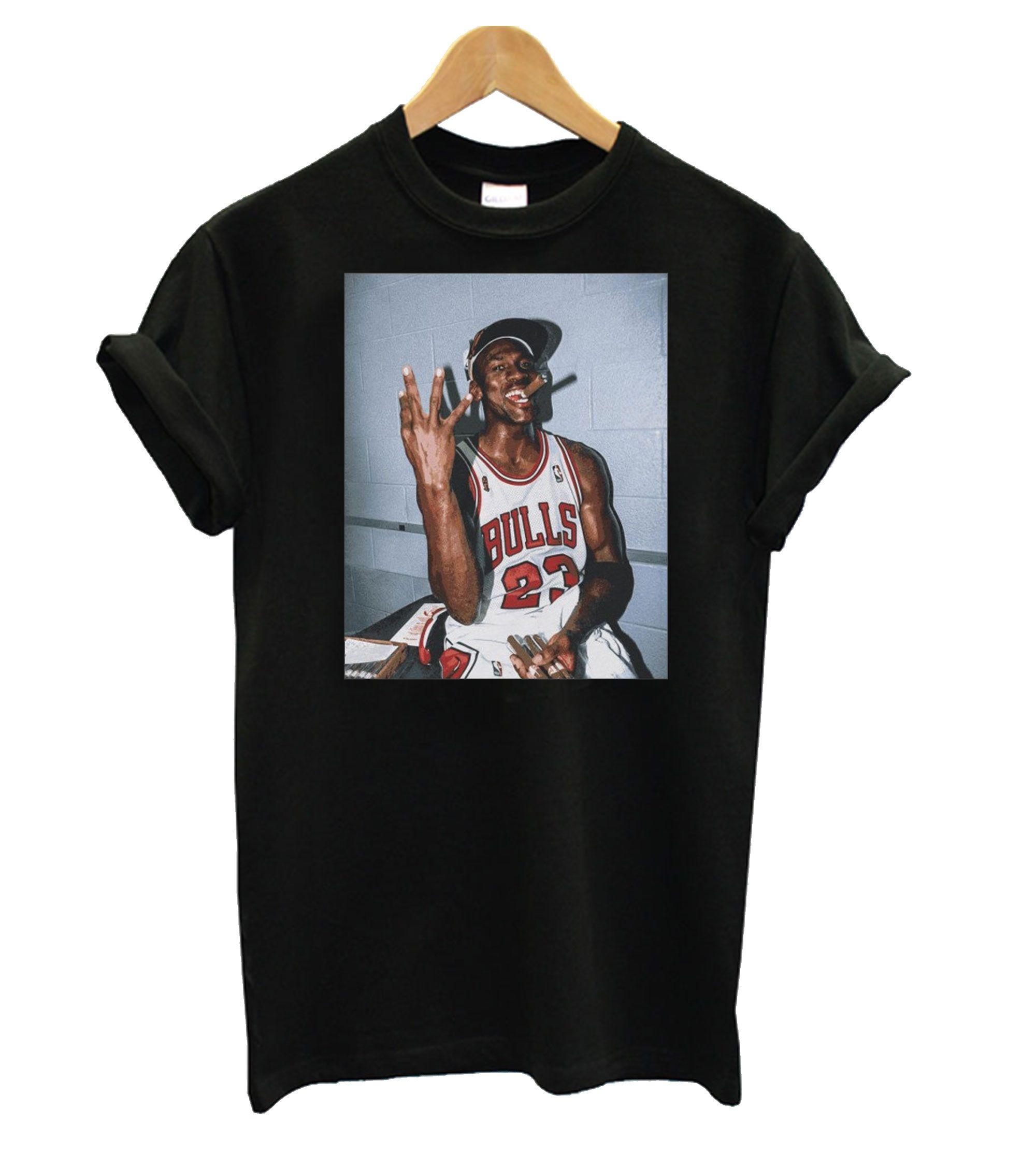 Vintage Michael Jordan Three Peat T Shirt In 2020 Michael Jordan T Shirts Michael Jordan Shirts Michael Jordan