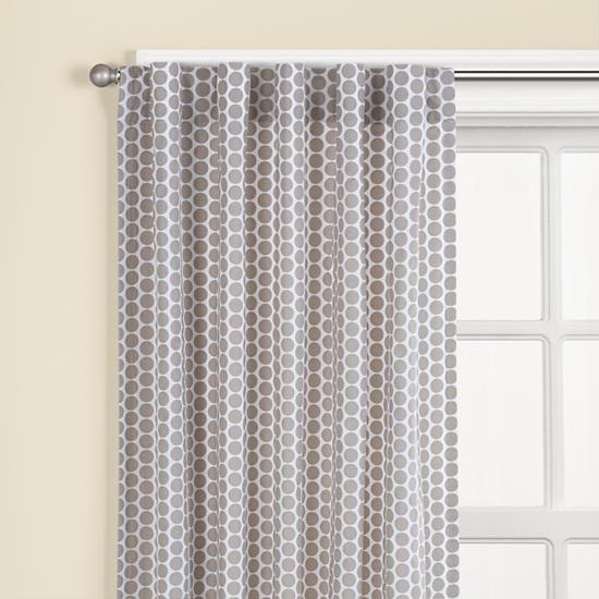 The Land Of Nod | Kidsu0027 Curtains: Kids Khaki Dot Curtain Panels In Curtains