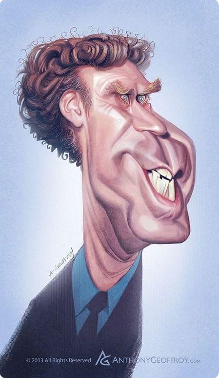Will Ferrell Caricaturas Pinterest Lustige Gesichter