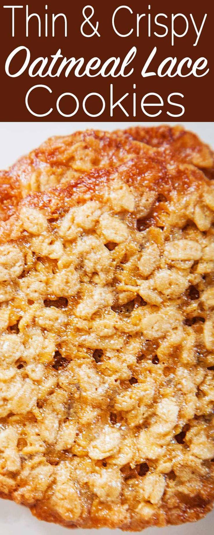 Haferflocken-Spitzenkekse haben die dünne und knusprige Güte, die Sie von einem Keks erwarten. -
