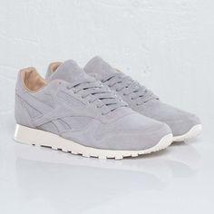 Via Sneakers n Stuff | Minimal Reebok Classic Leather Lux | Grey http://www.pinterest.com/modaoutlet