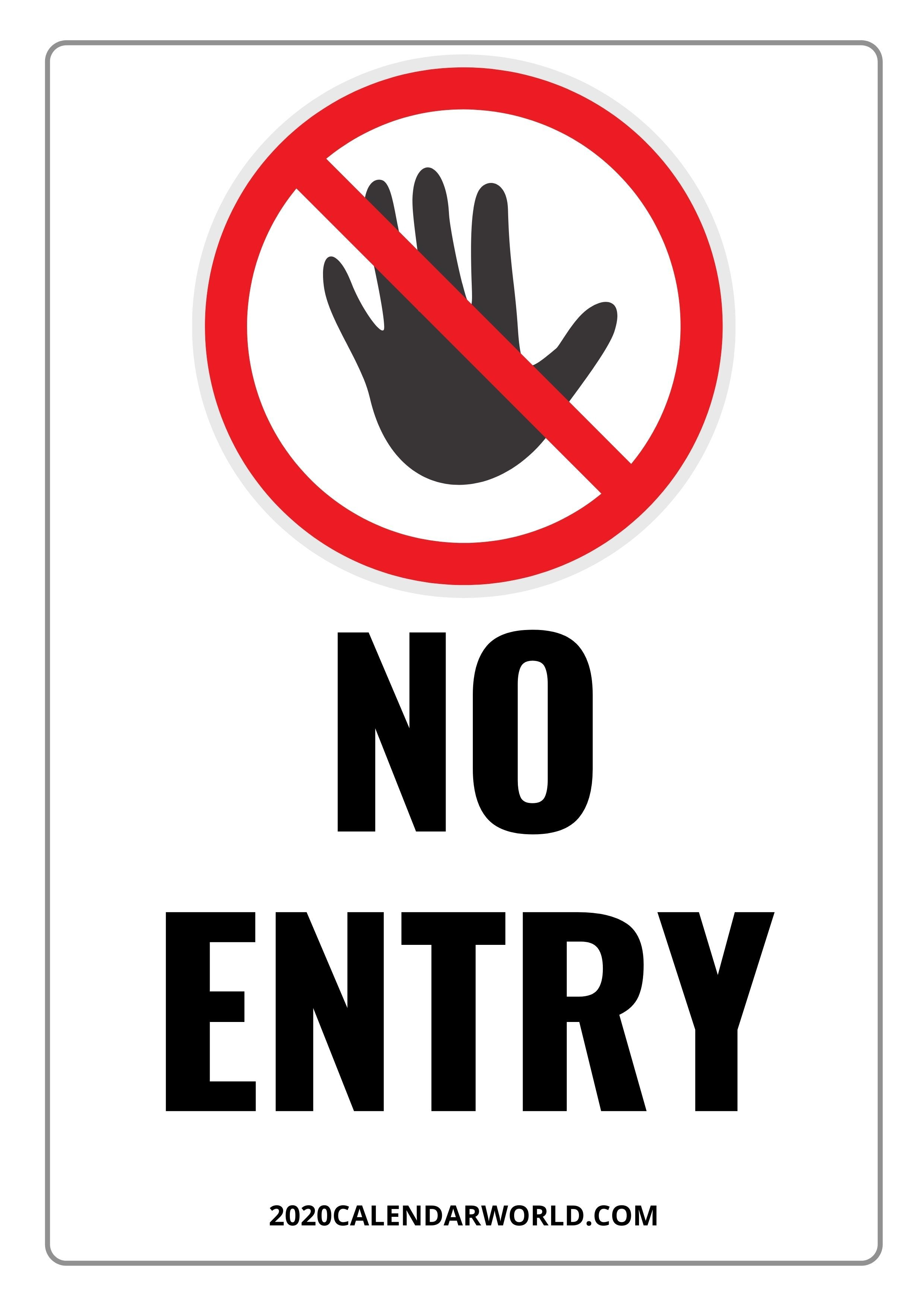 Printable No Entry Sign Template Full Hd Download Entry Signs Sign Templates Do Not Enter Sign
