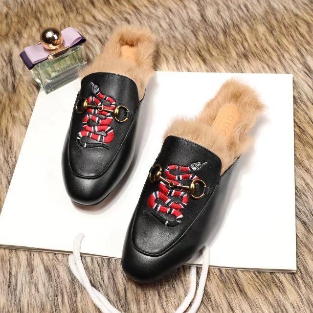 f6837419388 Replica GUCCI Princetown leather Slipper with Snake Woman Size 35-40  ID 32876