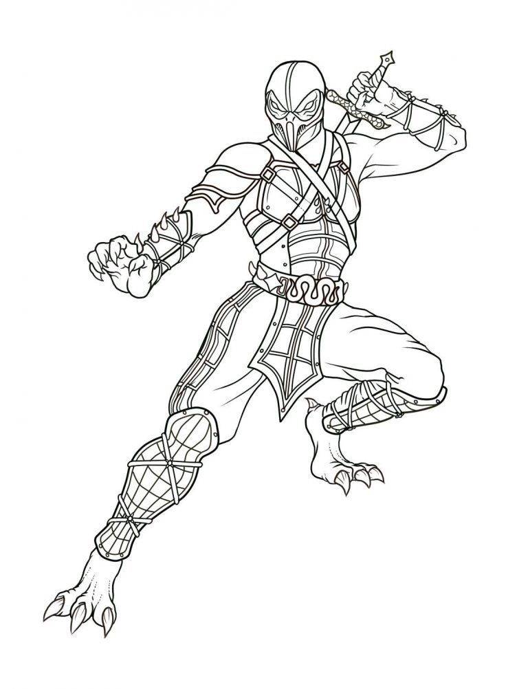 Free Printable Mortal Kombat Coloring Pages For Kids Coloring Pages Coloring Pages For Kids Coloring Pages Inspirational
