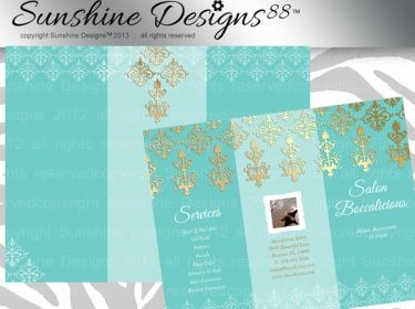 Spa Brochure Template Salon Instant Download  All Things Makeup