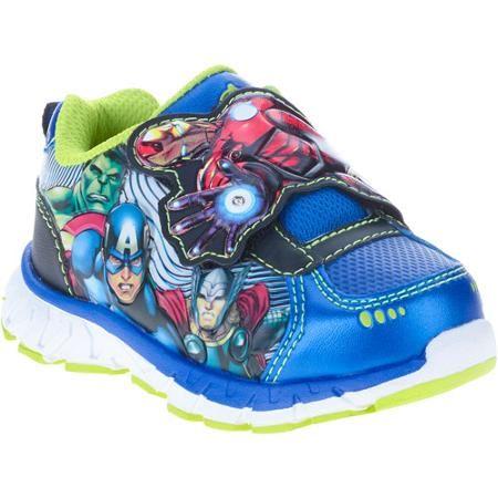 Avengers Toddler Boys Athletic Shoe Walmart Com Kids Athletic Boys Athletic Shoes Boys Shoes