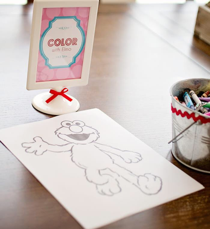 Girly Elmo Party Planning Ideas Cake Idea Supplies